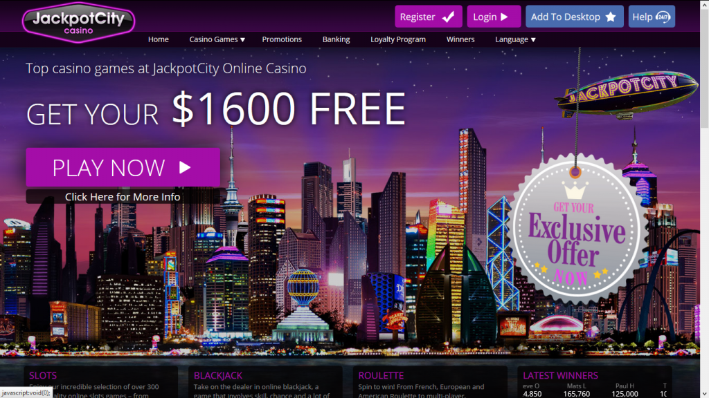Online casinos such as Jackpot City deliver a suite of benefits.